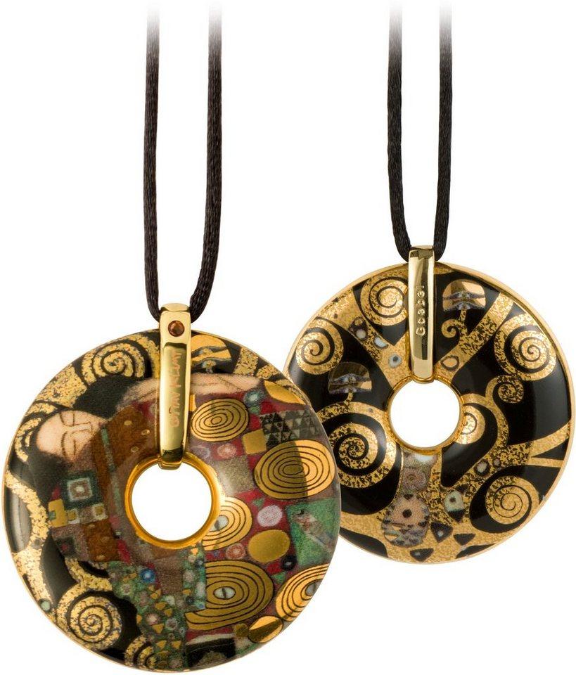 Goebel Kette mit Anhänger mit Swarovski® Kristall, »Die Erfüllung, 66989609« in goldfarben-vergoldet-braun-schwarz