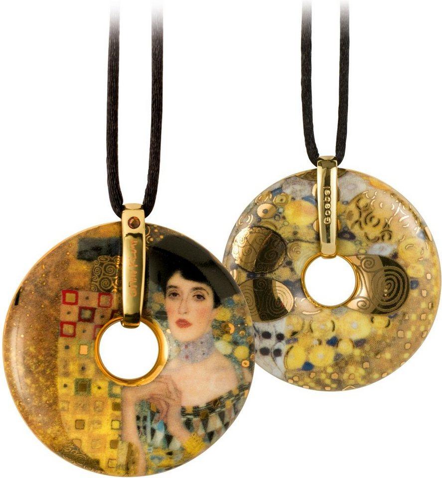 Goebel Kette mit Anhänger mit Swarovski® Kristall, »Adele Bloch-Bauer, 66989583« in goldfarben-vergoldet-beige-schwarz