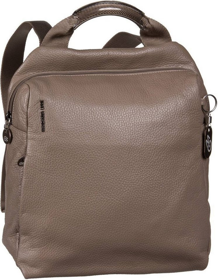 Mandarina Duck Mellow Leather Rucksack Small in Taupe