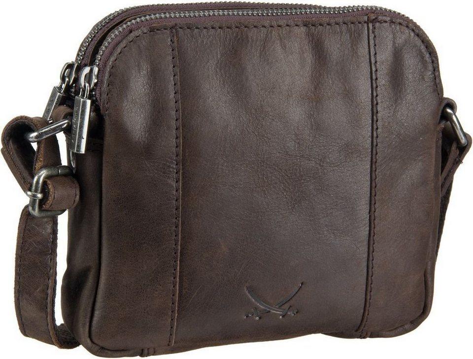SANSIBAR Saturnus 1051 Zip Bag in Dark Brown