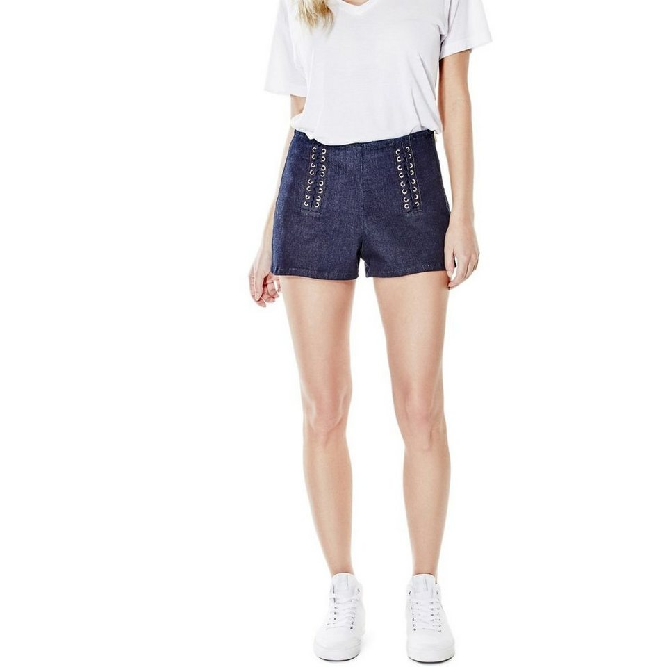 Guess SHORTS MIT BÄNDERN in Blau