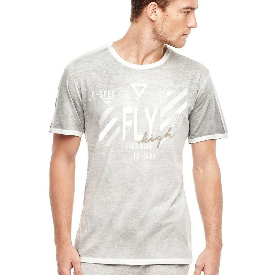 Guess PRINT-T-SHIRT in Grau
