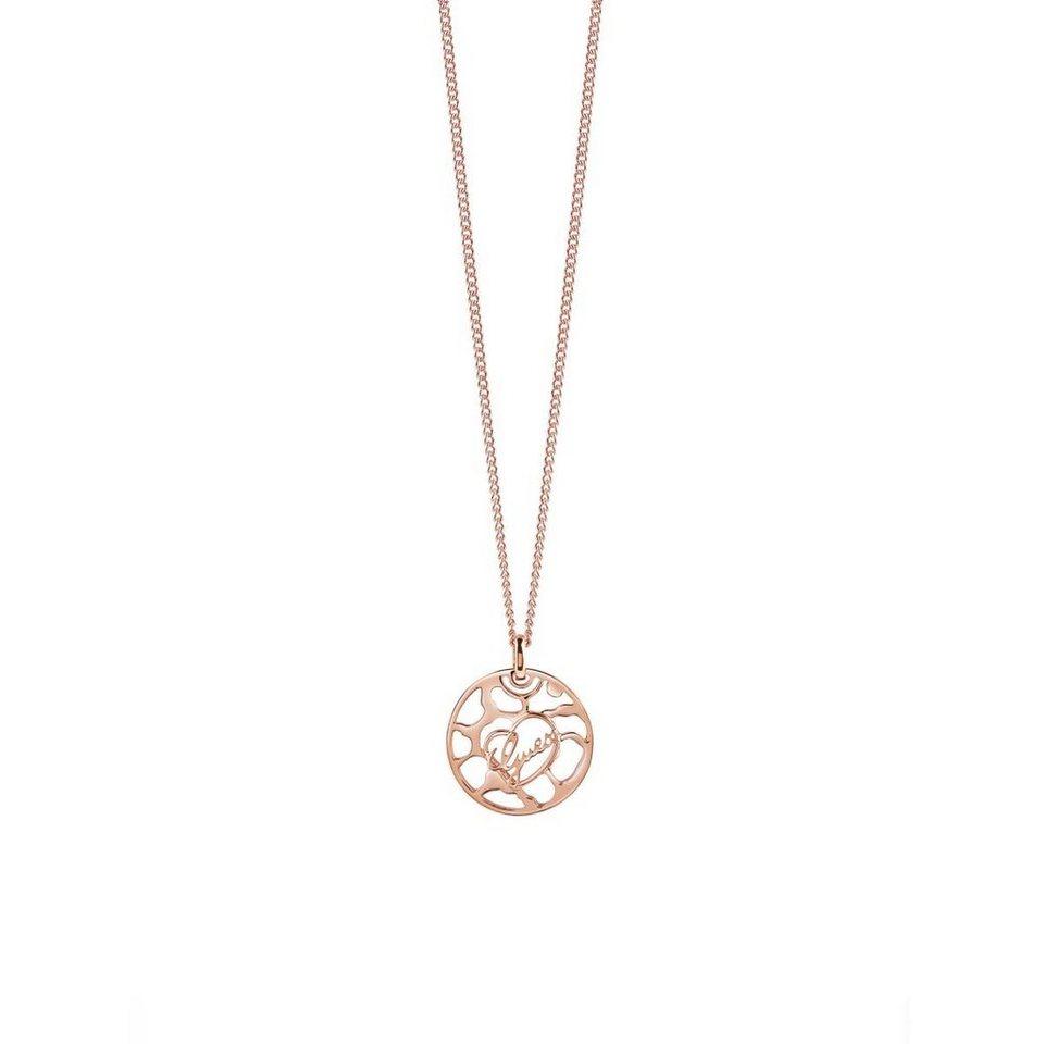 Guess Lange Logo-Halskette rosévergoldet in Rose Goldenfarbe