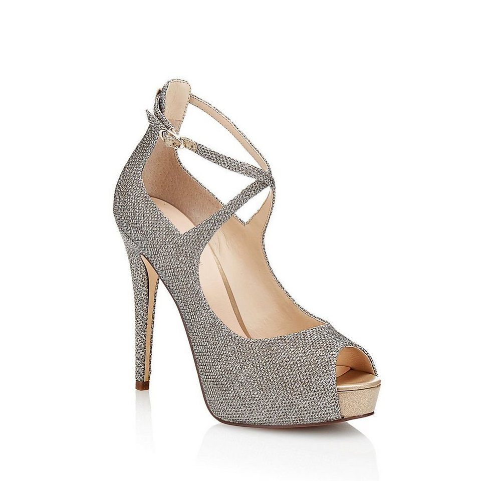 Guess PEEPTOE HADIO3 GLITTER in Goldenfarbe
