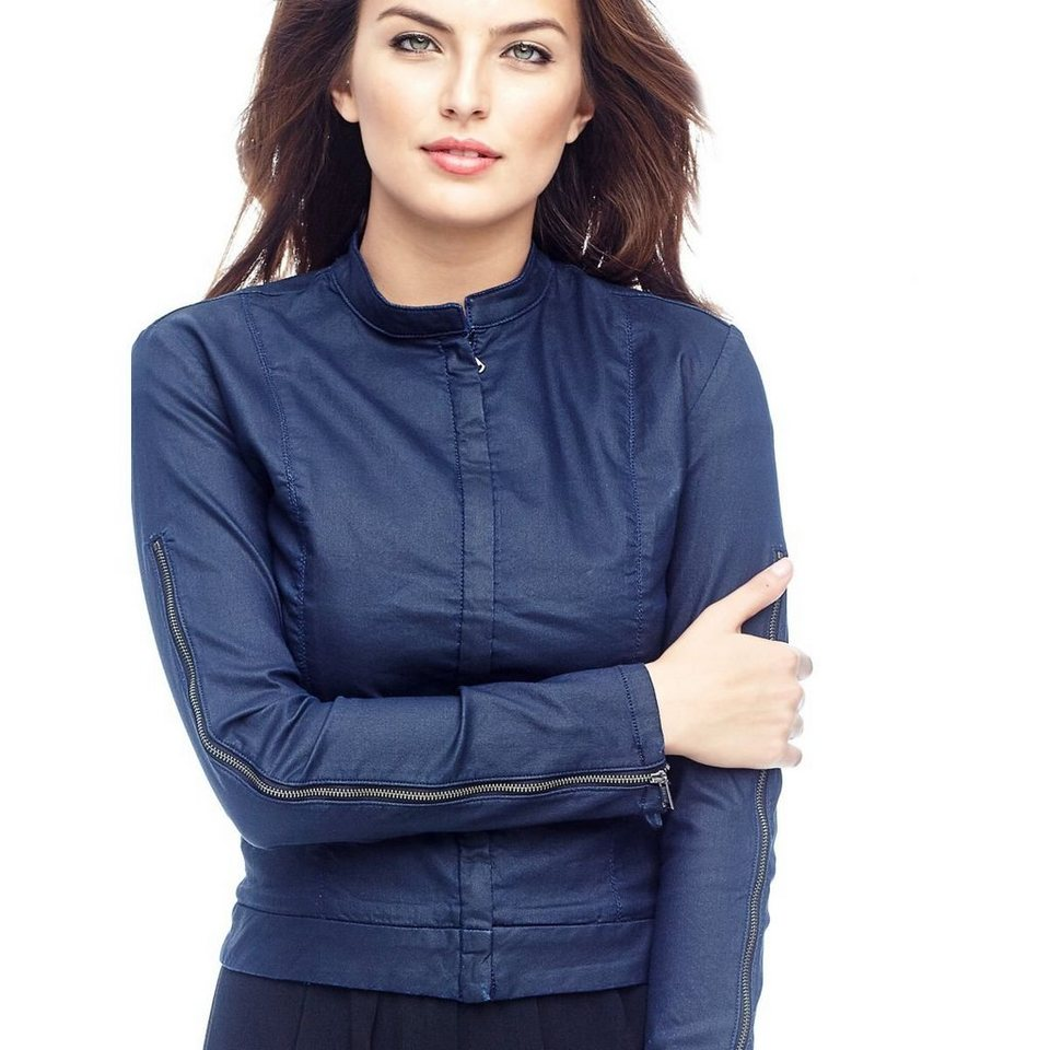 Guess JEANSJACKE BESCHICHTETER OPTIK in Blau
