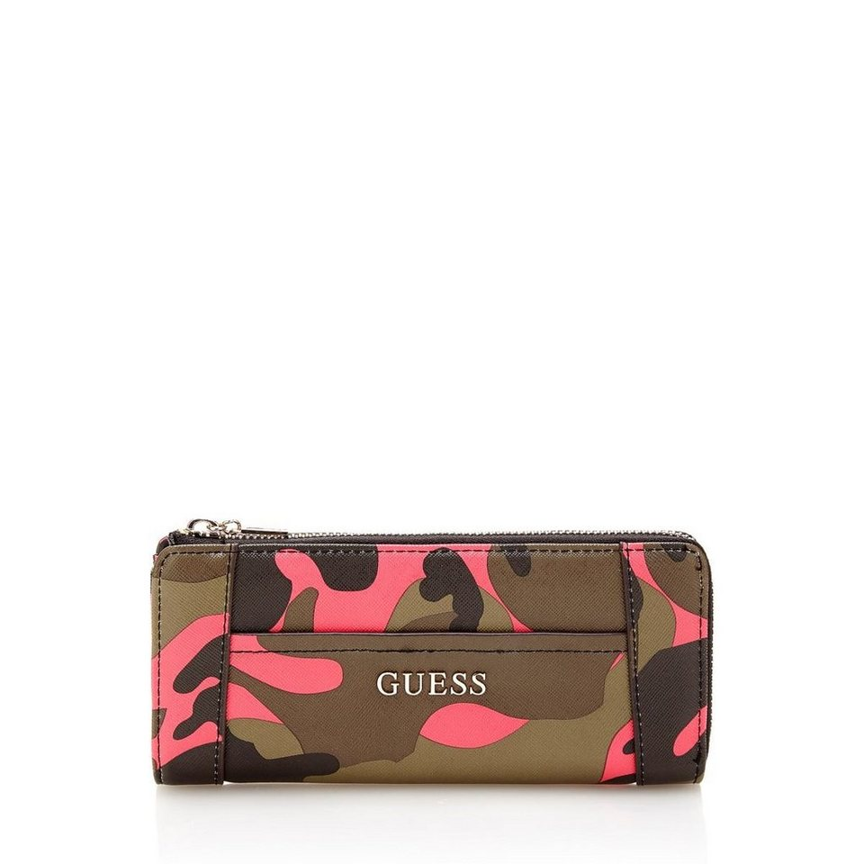 Guess PORTEMONNAIE NIKKI CAMOUFLAGE in Gemustert Multicolor