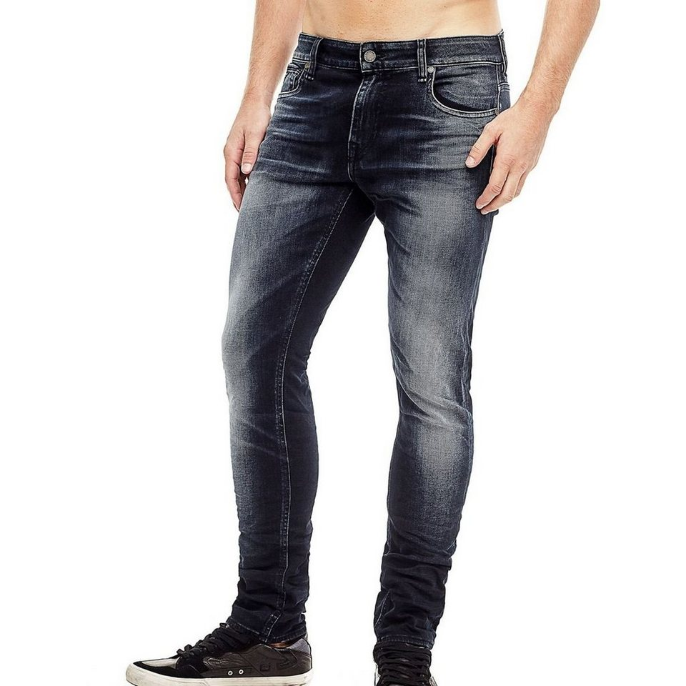 Guess JEANS SUPER SKINNY USED-OPTIK in Blau