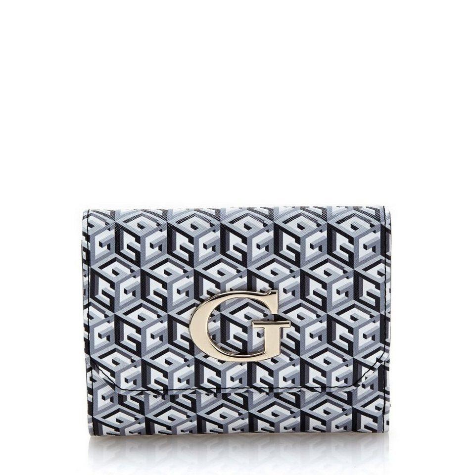 Guess Logo-Portemonnaie G Cube in Noir
