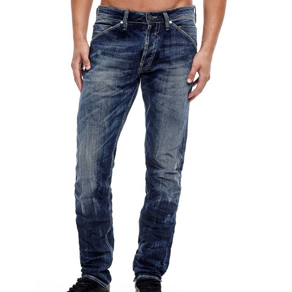 Guess JEANS REGULAR USED-OPTIK in Blau