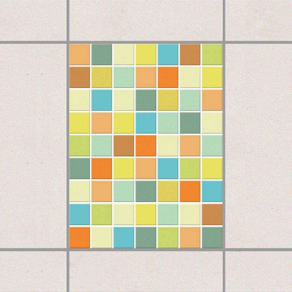 Bilderwelten Fliesenaufkleber Set 20x15 cm »Mosaik Sommerset« in Farbig