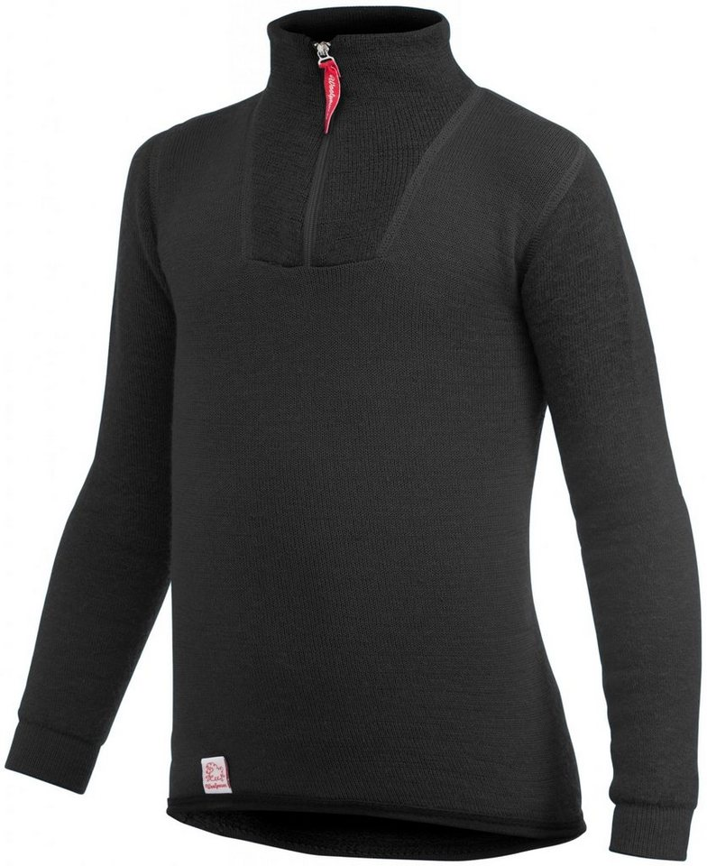 Woolpower Pullover »200 Zip Turtelneck Kids« in schwarz