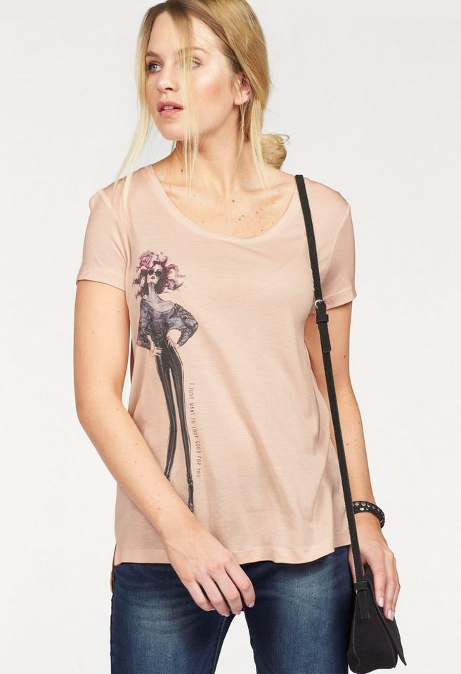 Vero Moda T-Shirt »GIRLS« in puder