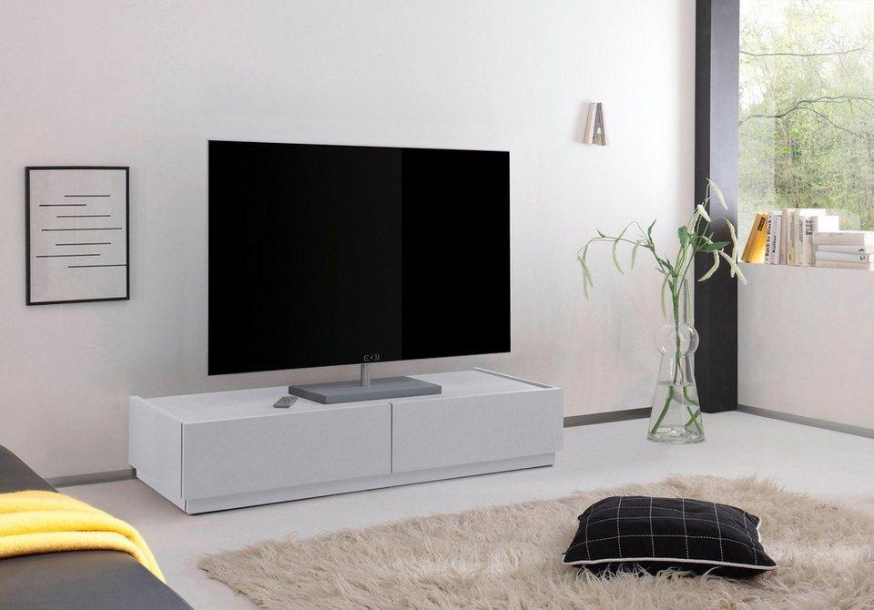 places of style tv lowboard zela mit 2 schubladen breite 123 cm online kaufen otto. Black Bedroom Furniture Sets. Home Design Ideas