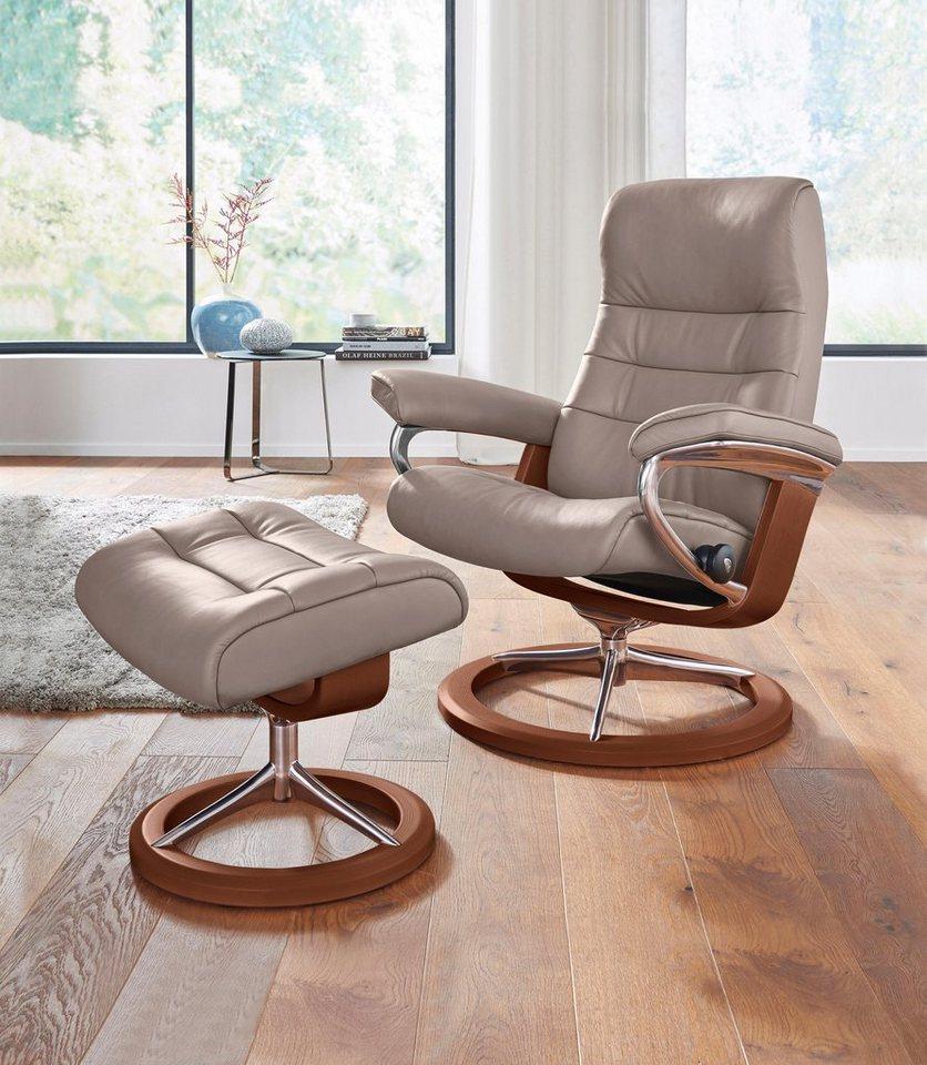 stressless set relaxsessel mit hocker opal mit signature base gr e m mit schlaffunktion. Black Bedroom Furniture Sets. Home Design Ideas