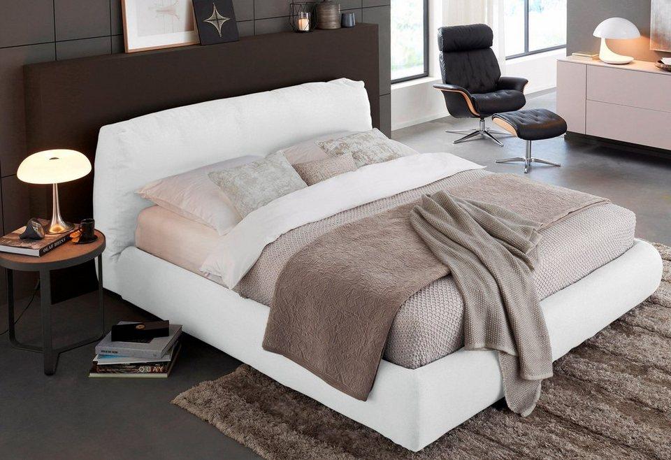 roomed Boxspringbett »Sharpei Box«, italienisches Design in weiß