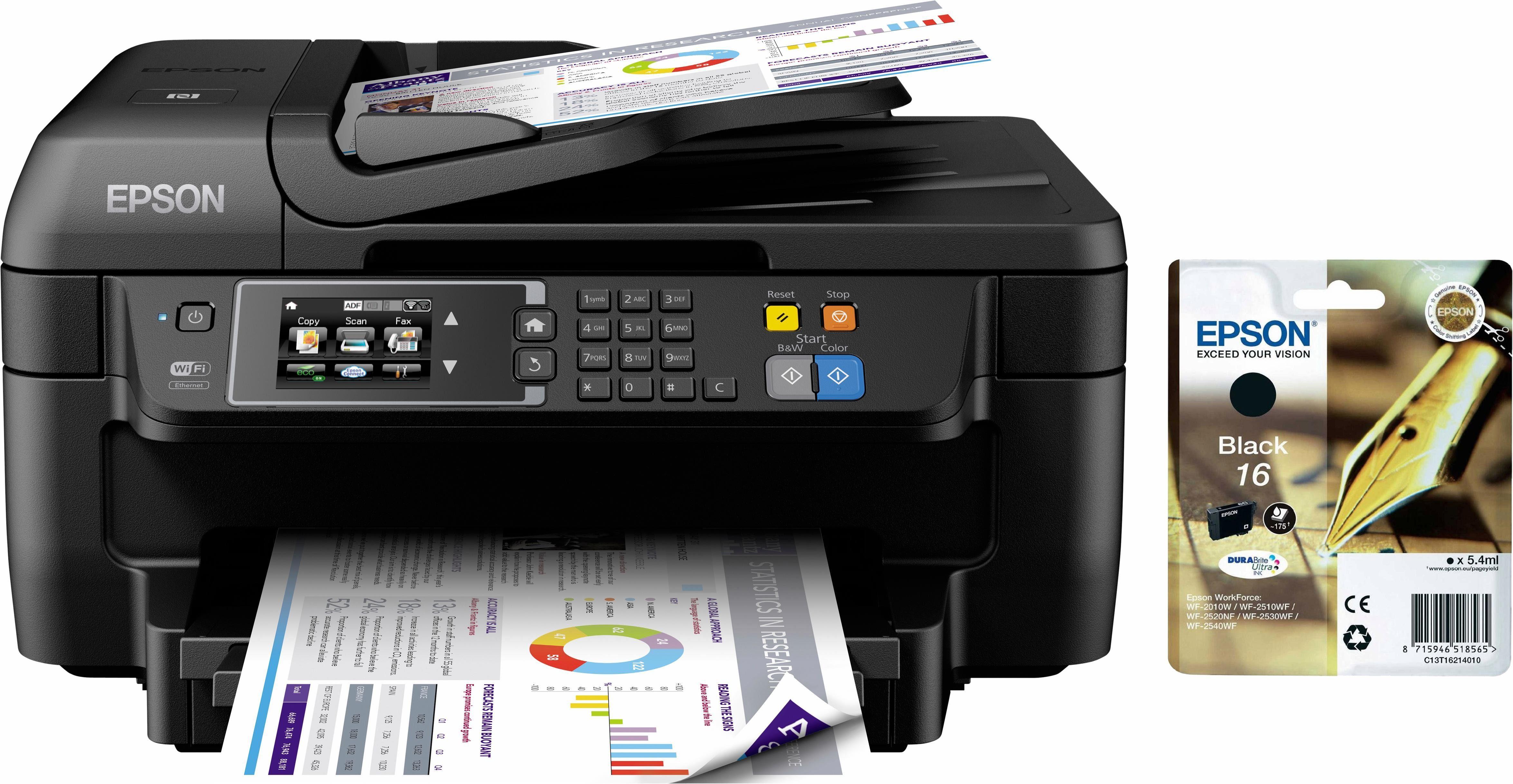 Epson WF2760 inkl. Schwarzpatrone Multifunktionsdrucker