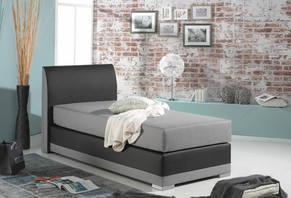 maintal boxspringbett modernes zweifarbiges bett online kaufen otto. Black Bedroom Furniture Sets. Home Design Ideas