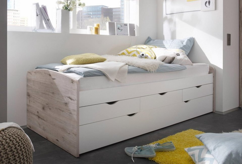funktionsbett mit 2 schlafgelegenheit 3 schubk sten online kaufen otto. Black Bedroom Furniture Sets. Home Design Ideas