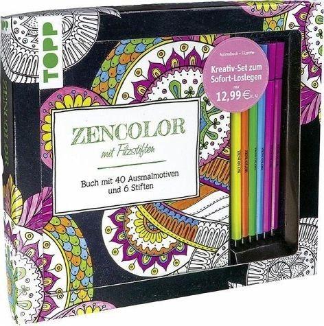 Broschiertes Buch »Kreativ-Set Zencolor mit Filzstiften«