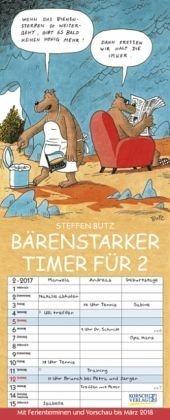 Kalender »Bärenstarker Timer für 2 (Zwei) 2017«