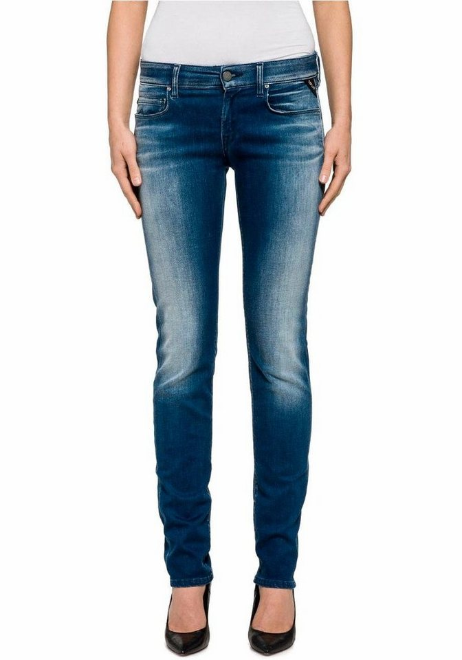 Replay Slim-fit-Jeans »Rose« mit Stretch in mid-blue-used