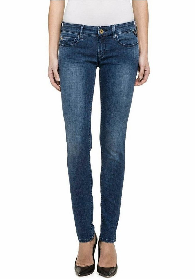 Replay Skinny-fit-Jeans »Rose« mit Stretch in mid-blue-used