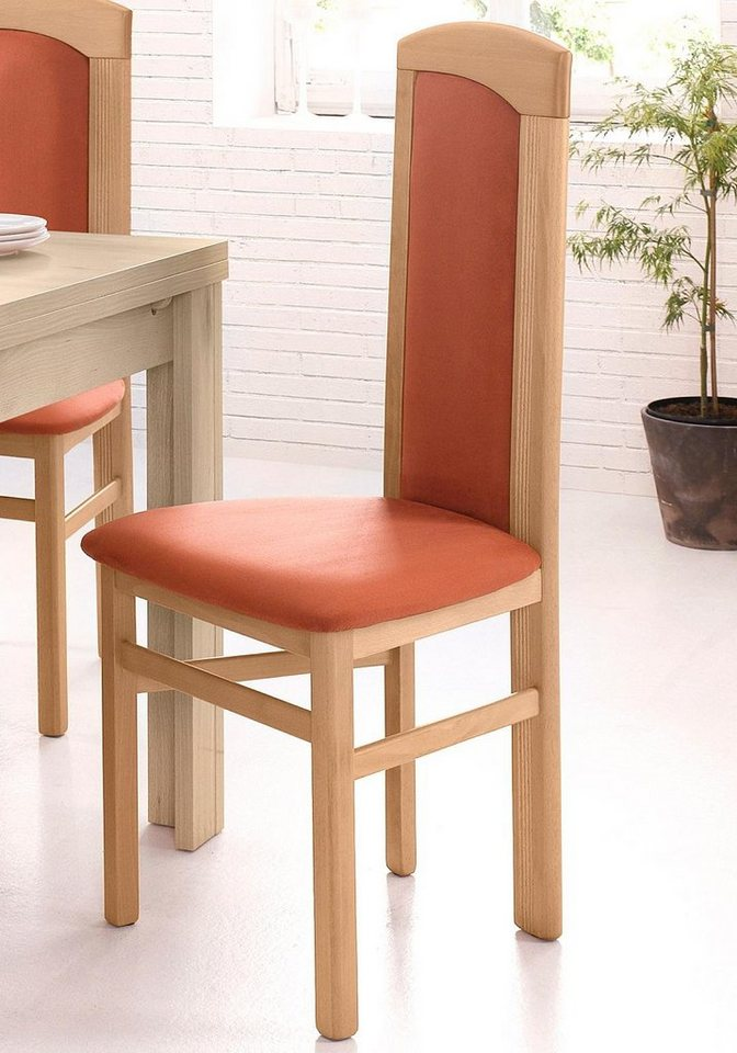 Stühle (2 Stck.) in buchefarben/terra