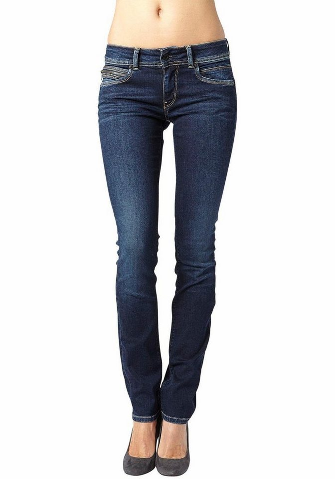 Pepe Jeans Slim-fit-Jeans »NEW BROOKE« mit Stretch-Anteil in mittelblau