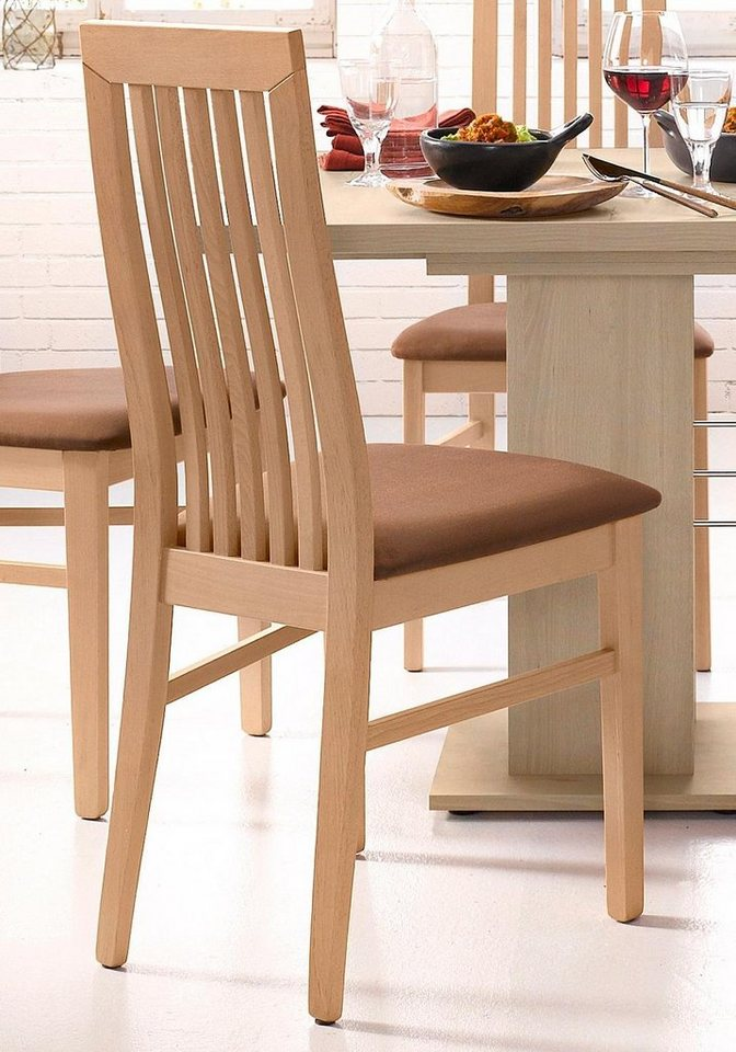 Stühle (2 Stck.) in Gestell buchefarben