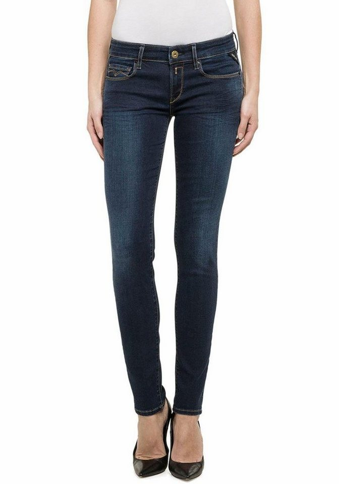 Replay Skinny-fit-Jeans »Rose« mit Stretch in dark-blue