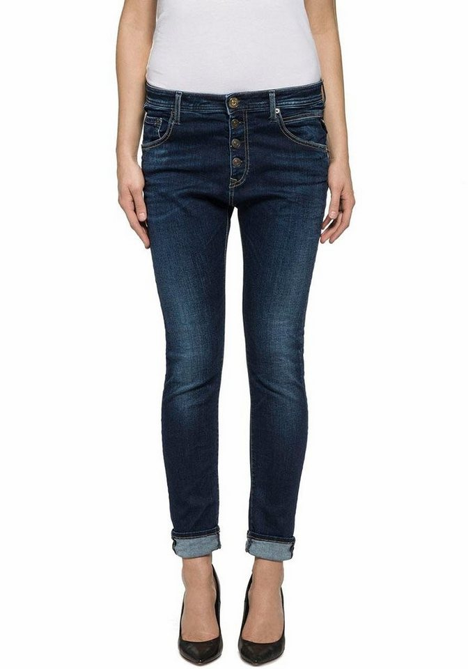 Replay Slim-fit-Jeans »Pilar« mit Stretch in darkblue-used