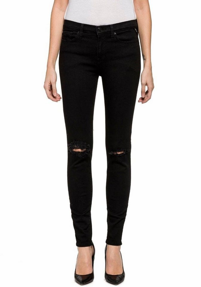 Replay Slim-fit-Jeans »Joi« mit Stretch in black