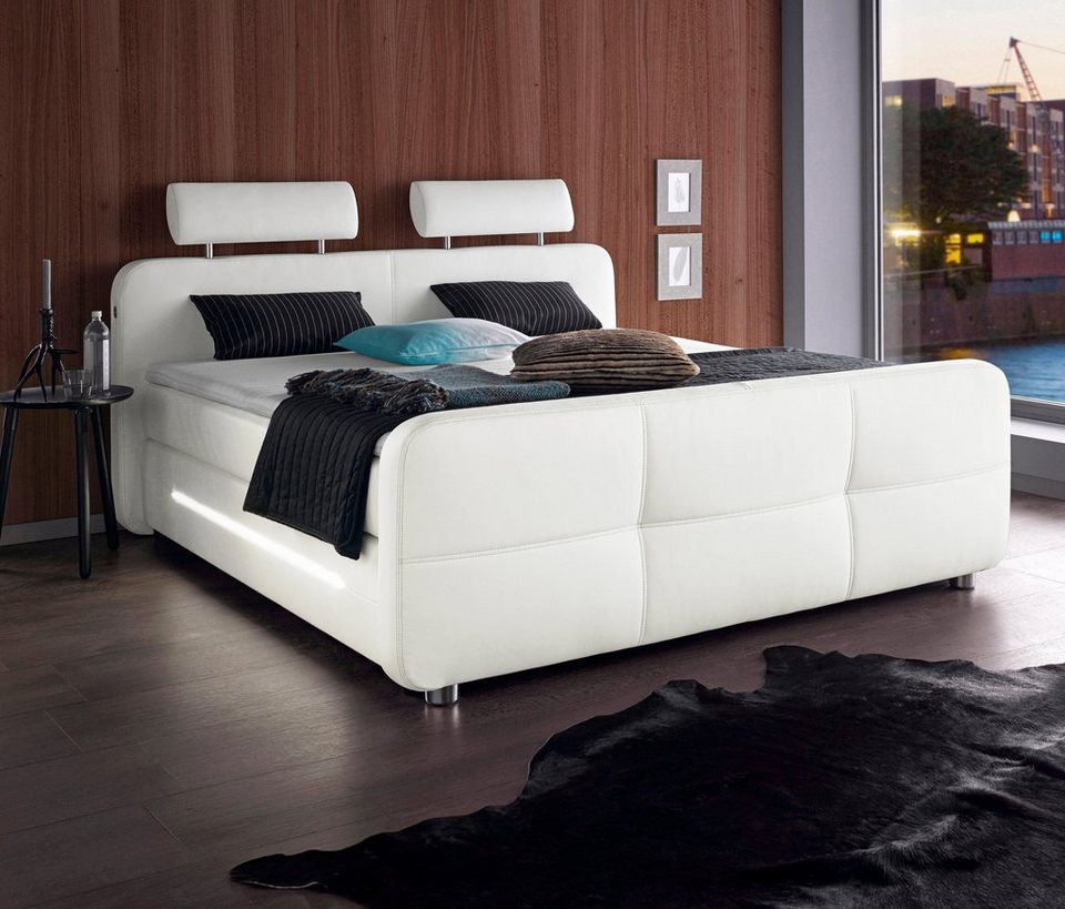 box spring betten ohne metall. Black Bedroom Furniture Sets. Home Design Ideas