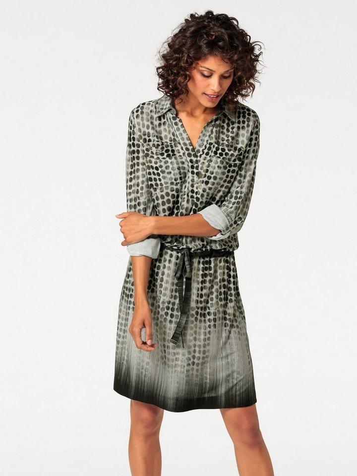 Jerseykleid in oliv