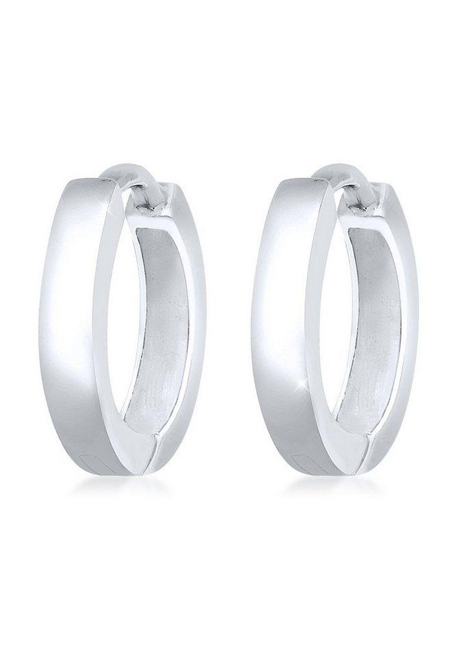 Elli Ohrringe »Basic Creolen 925 Sterling Silber« in Silber