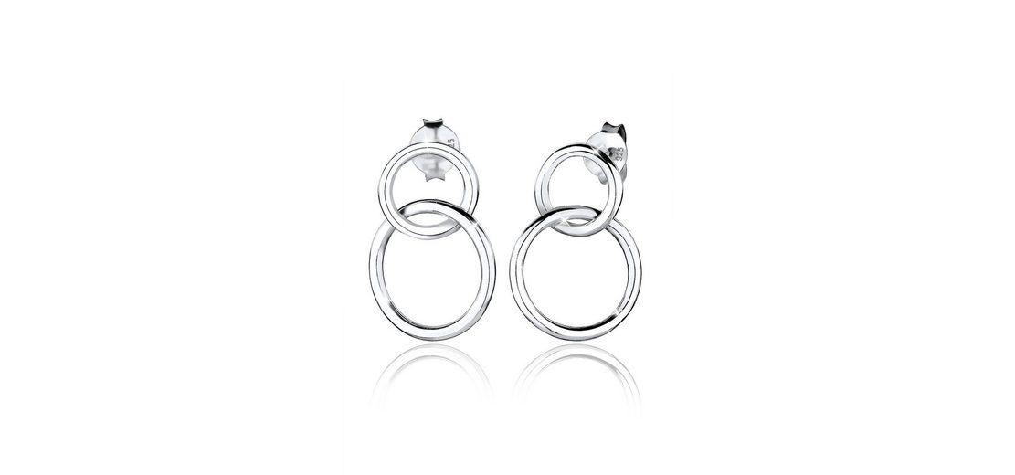 Elli Ohrringe »Basic Kreis Silber«