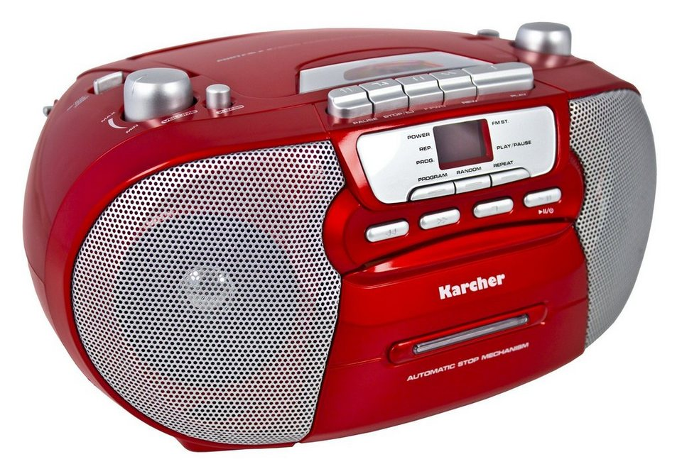 """Karcher tragbare Stereo-Boombox »RR 5040-R """"Oberon""""« in Rot"""