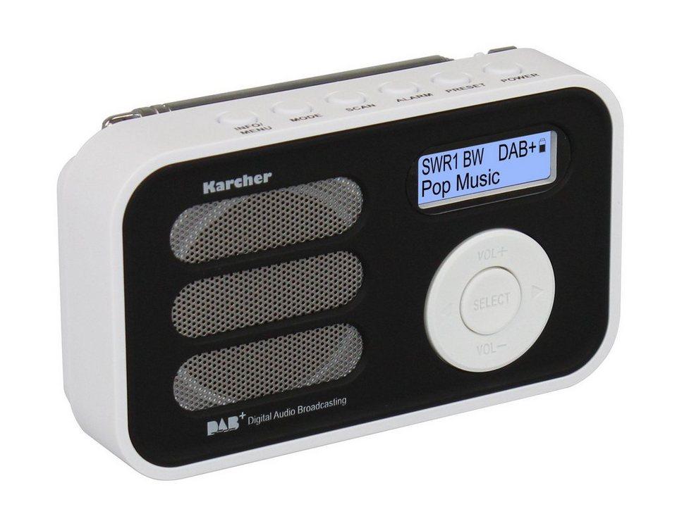 Karcher tragbares Digitalradio »DAB 2410-W« in Weiß