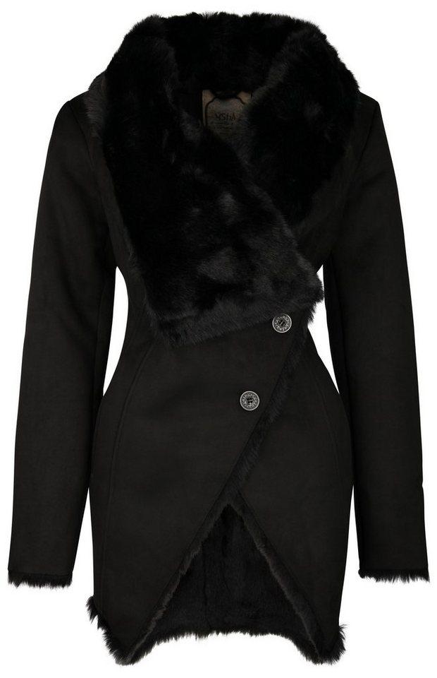 Usha Mantel in schwarz