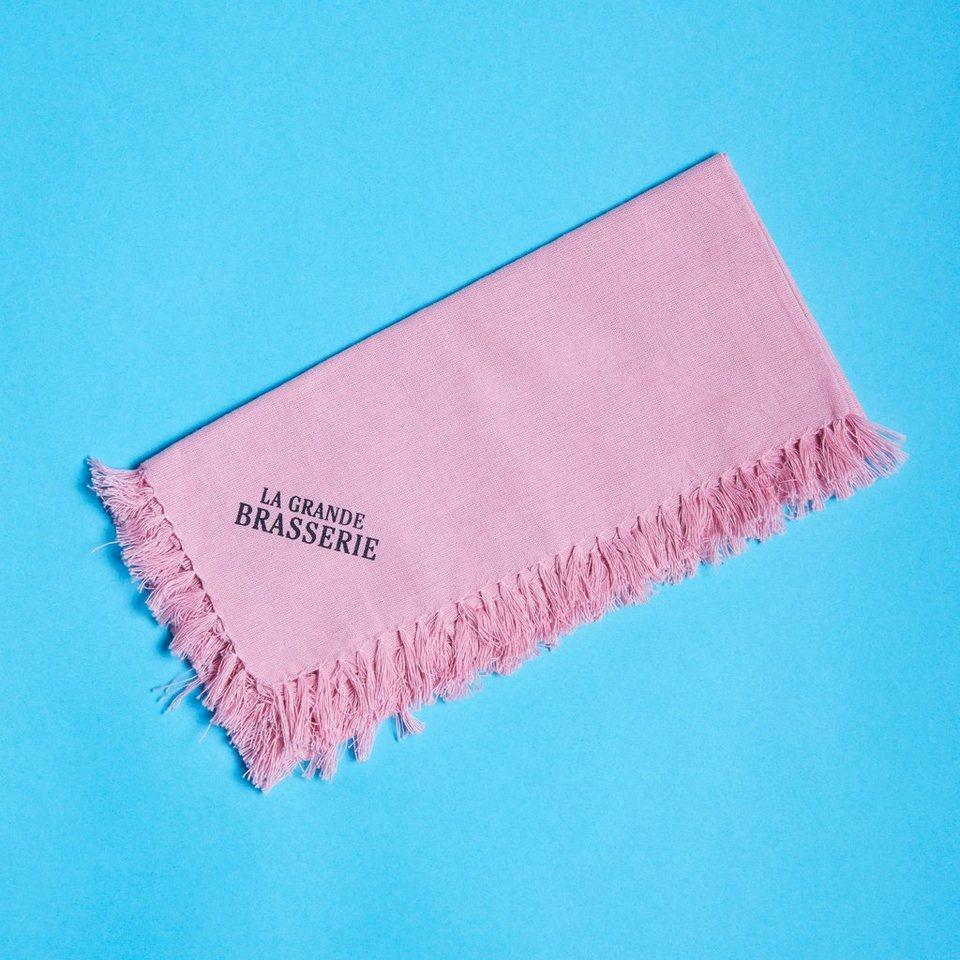 BUTLERS LA GRANDE BRASSERIE »Serviette mit Fransen« in rosa