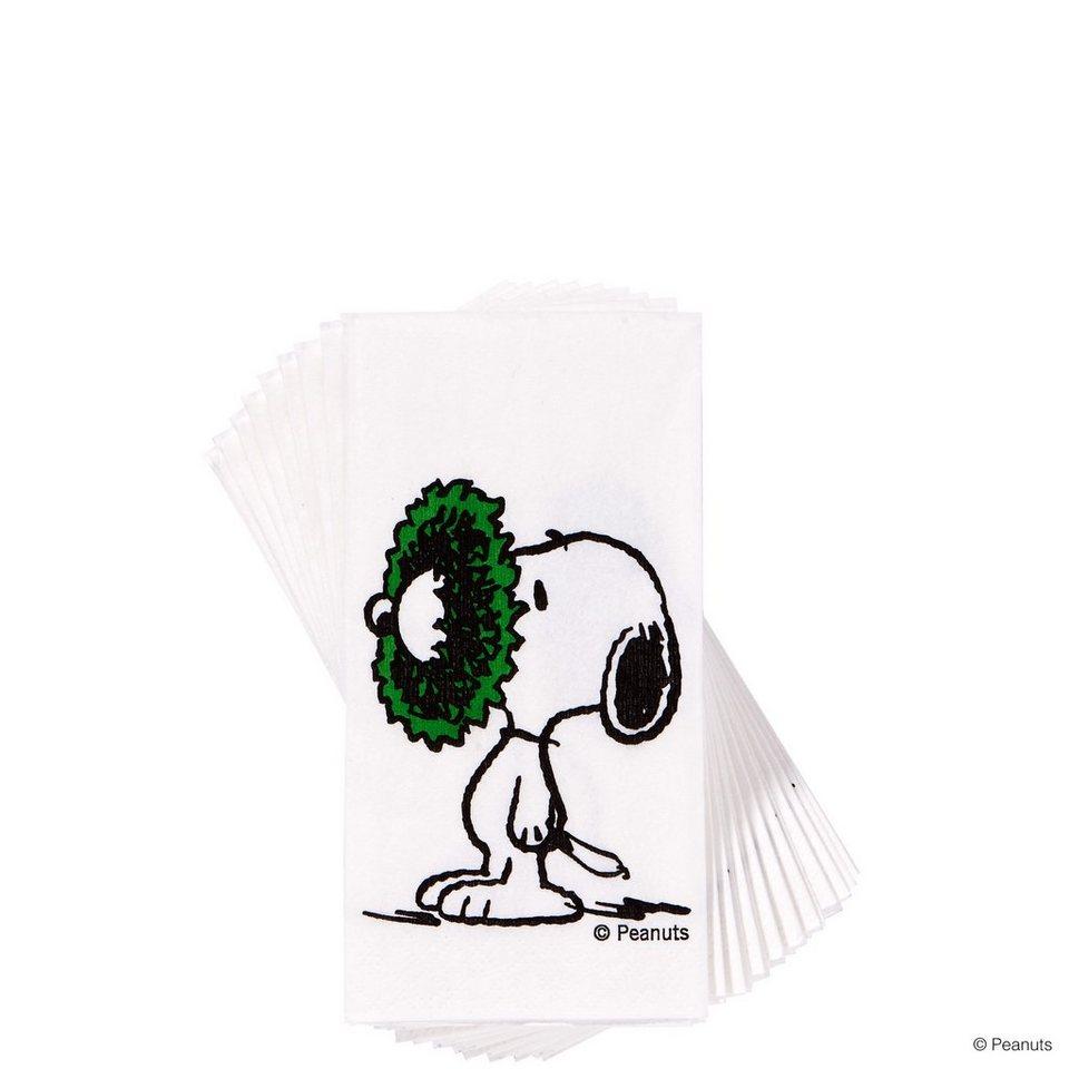 BUTLERS PEANUTS »Taschentücher Snoopy/Kranz«