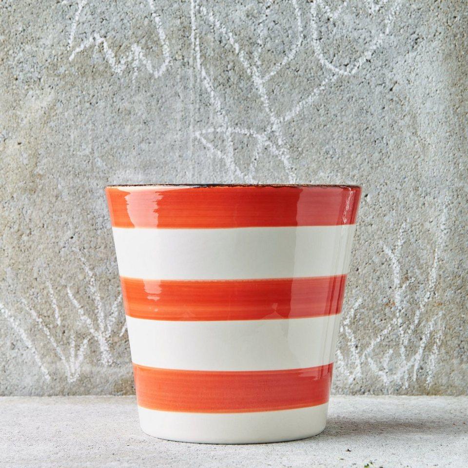 Butlers stripes blumentopf gestreift kaufen otto for Blumentopf rot