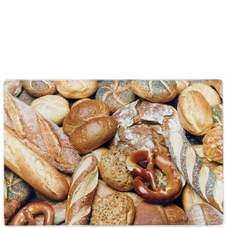 BUTLERS DIRECTOR'S CUT »Glas-Schneidebrett Brot« in Braun