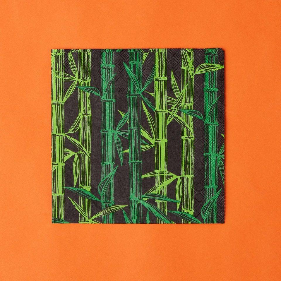 BUTLERS APRÈS »Papierserviette Bambus« in gruen