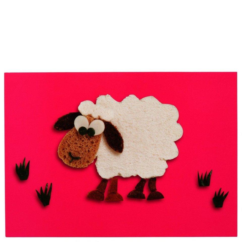 BUTLERS CARD »Postkarte Sandwich-Schaf« in Weiß