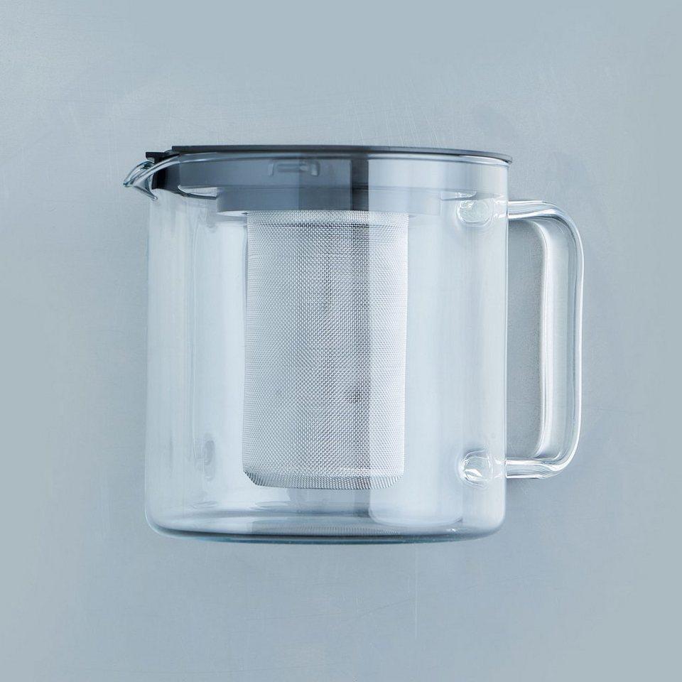 BUTLERS EARL »Teekanne mit Metallsieb« in Transparent