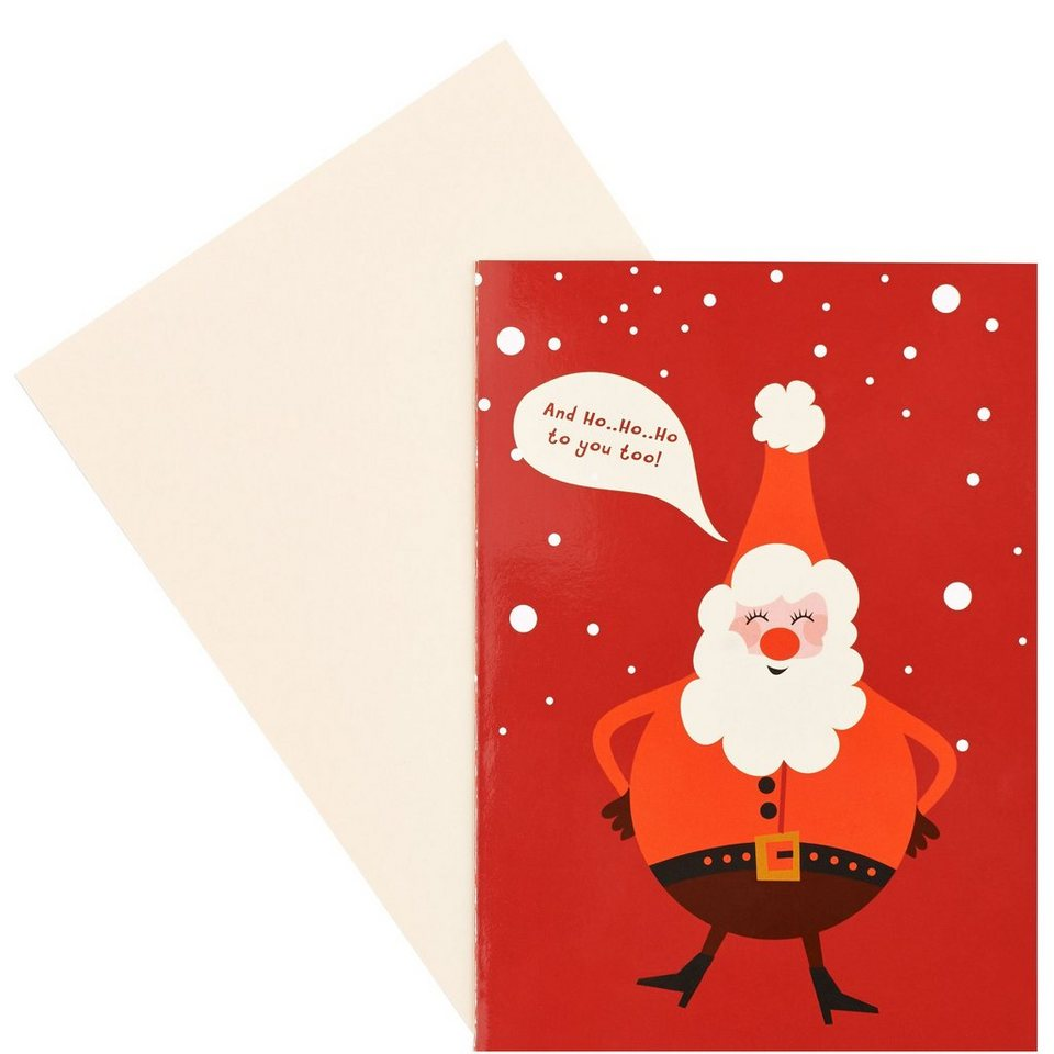 BUTLERS CARD »HoHoHo to you« in Weiß