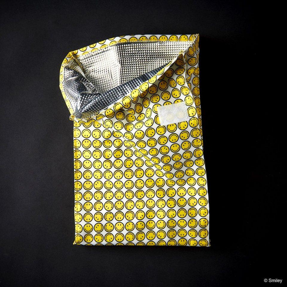 BUTLERS SMILEY »Kühltasche Lunch« in gelb-schwarz