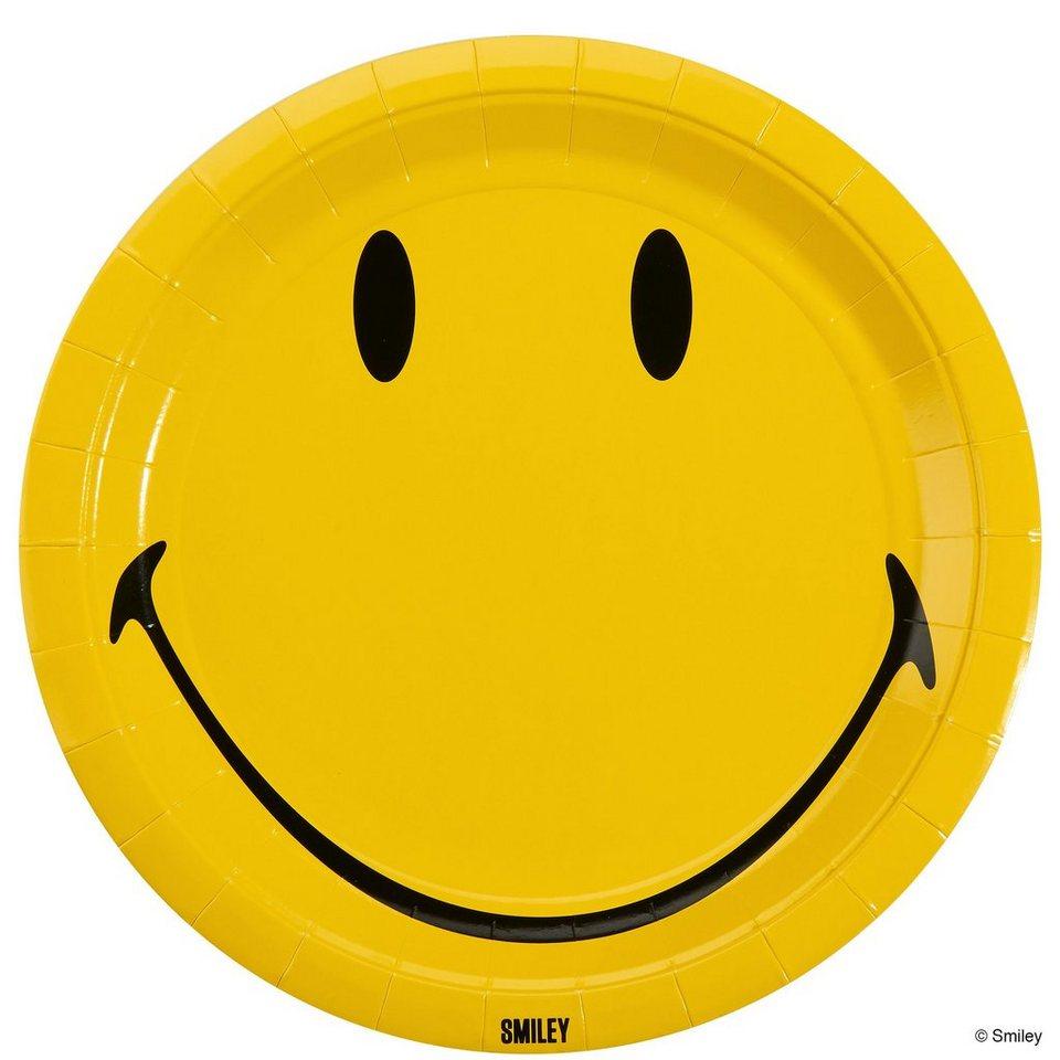 BUTLERS SMILEY »Pappteller« in gelb-schwarz