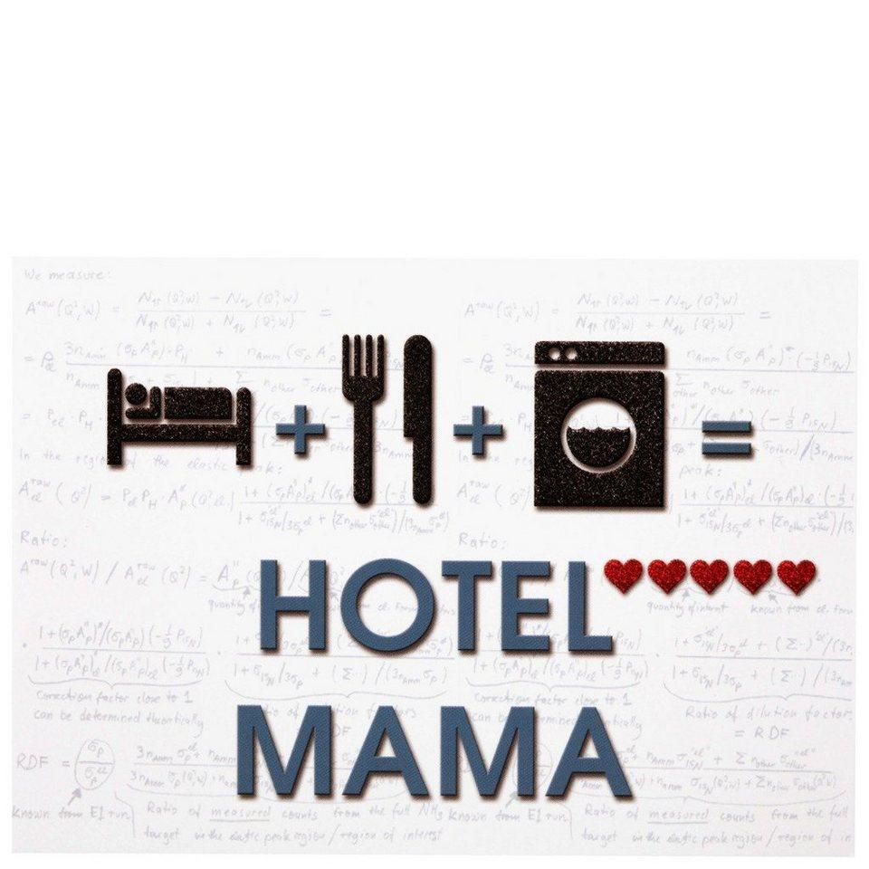 BUTLERS CARD »Postkarte Hotel Mama Rechnung« in Weiß